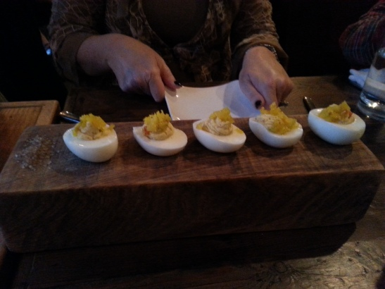 A nice flight of eggs - very tasty