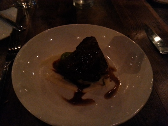 Short ribs so rich THEY MADE THE ROOM DARK!