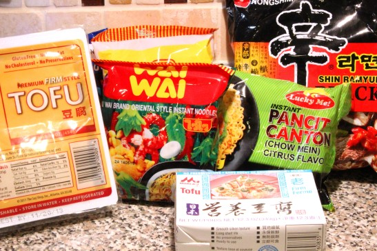 tofu & ramen