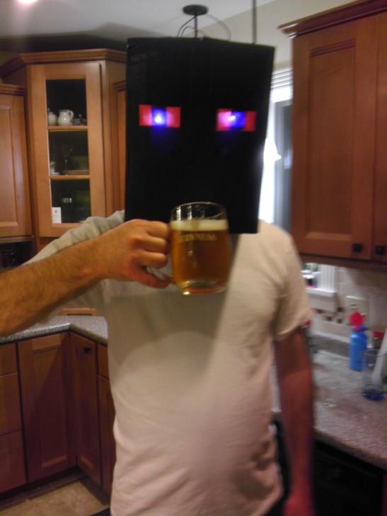 Enderdad, enjoying a beer