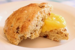 Date Scones with Lemon Curd