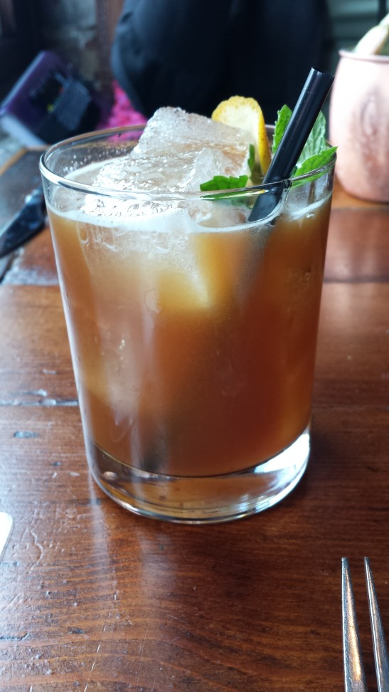 Preservationist - Calvados, amaro, bourbon, orange/fig shrub and lemon