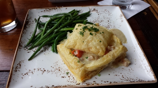 Mine - Chicken pot pie in filo with haricot verts