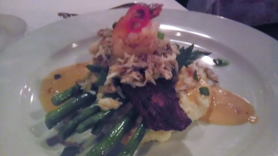 Cobia With Shrimp