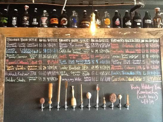 LOTS to choose from (the taps wrap around the right side)