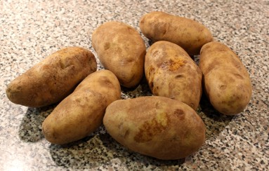 russet potatoes, 4-5 inches in length